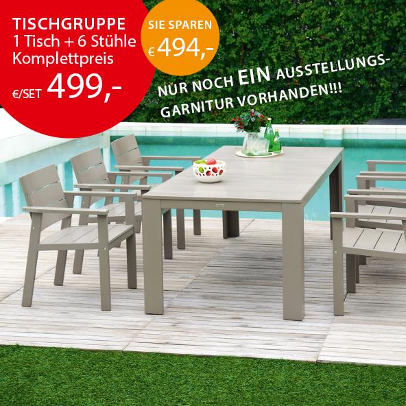 Holz Speckmann Gartenmöbel Tischgruppe Garnitur Liege Sofagarnitur